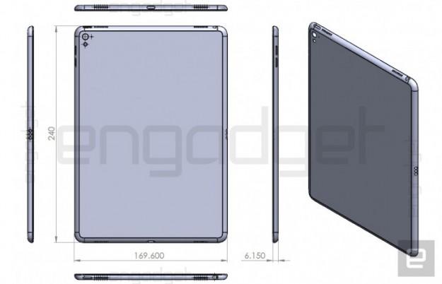 В сети появились чертежи нового планшета Apple iPad Air 3