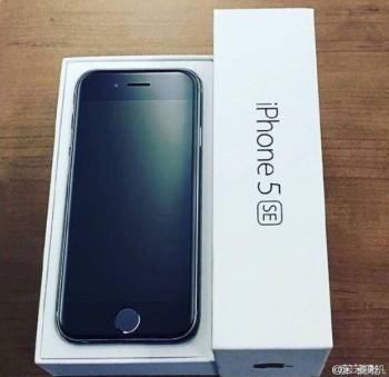 Сегодня появилось фото Apple iPhone 5se в заводской коробке