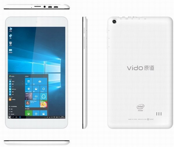 На планшет Vido W8C установили ОС Windows 10