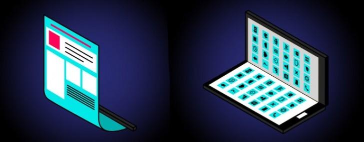 Samsung разрабатывает устройство со складным дисплеем