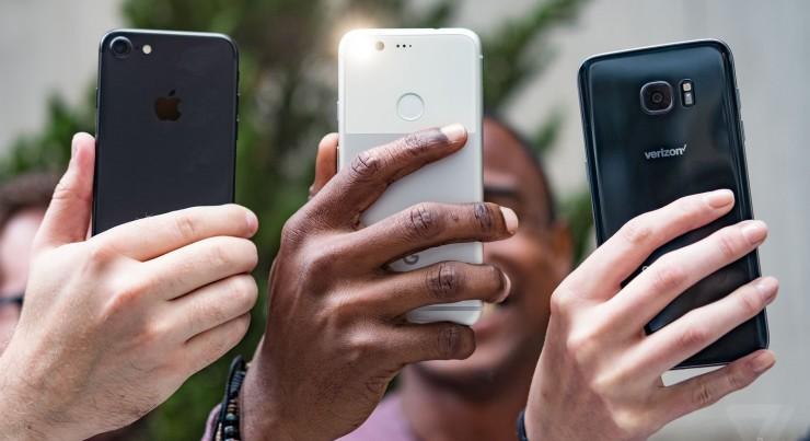 Pixel XL vs iPhone 7 vs Galaxy S7 edge